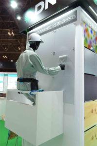 ローラー塗装によるメタリック塗替えシステム|高機能塗料展(東京)@DNT